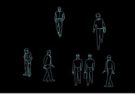 man worker engineer  boy human figure elevations  dwg