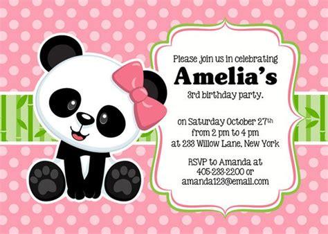panda card template panda invitation panda invitation panda invite