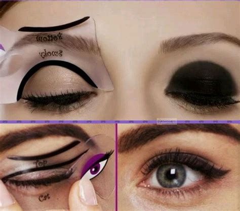 tutorial eyeliner stencil printable cat eye makeup stencil mugeek vidalondon