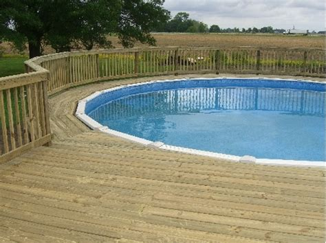 pool decks best 126 above ground pool landscaping images on