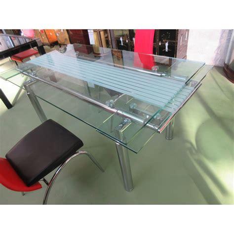 table salle a manger verre table salle 224 manger verre avec rallonges magasin du