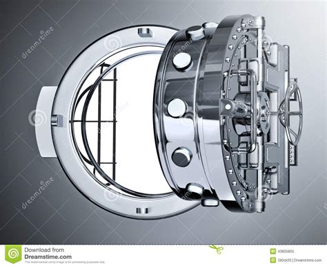open bank vault door stock illustration image 43805855