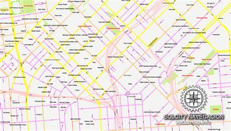 san francisco map vector free free map san francisco california us cityplan simple ai 1