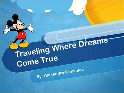 Disney World Authorstream Disney Powerpoint Template Free