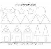 Picture Tracing – Shapes Two Worksheets / FREE Printable
