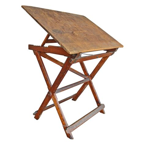 Collapsible Drafting Table Solid Wood Folding Drafting Table Mills Architectural Salvage