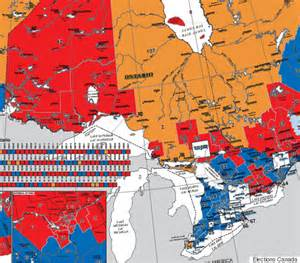 electoral map of canada canada election map before and after canadians voted