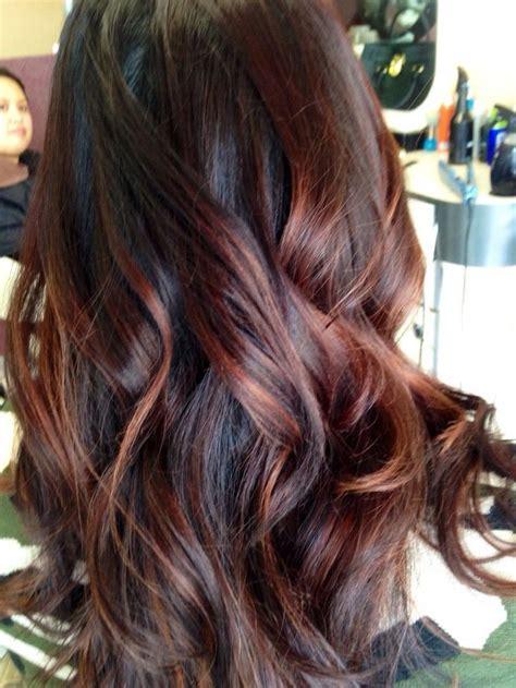 balayage highlights on dark brown hair balayage hairstyles for long dark hair