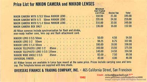 nikon digital price list a libary of price list for nikon nippon kogaku kk
