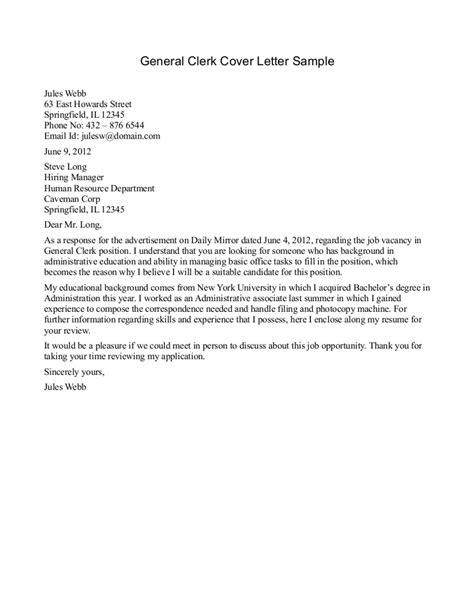Exle Cover Letter For Resume General by How To Write A General Resume Cover Letter Howsto Co