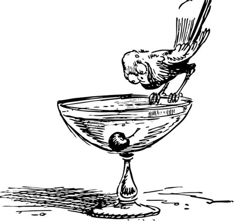 mixed drink clipart black and white bird on a cocktail clip art at clker com vector clip art