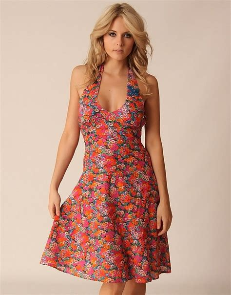 Summer Dresses by Summer Halter Dresses You Are Here Home Gt Pink Ditsy