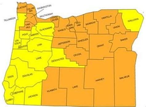 radon map portland oregon salem oregon zip code map