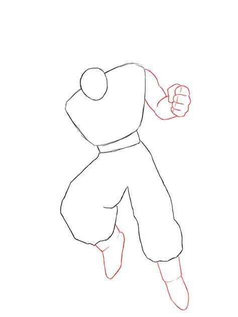 hiw to draw how to draw goku draw central