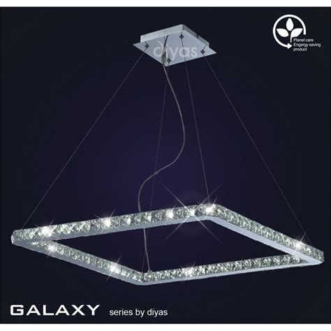 diyas galaxy 36 light daylight white led square ceiling