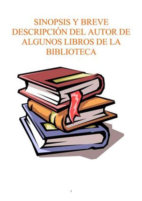 calam 233 o car 225 tula y breve sinopsis de algunos libros de la biblioteca 1