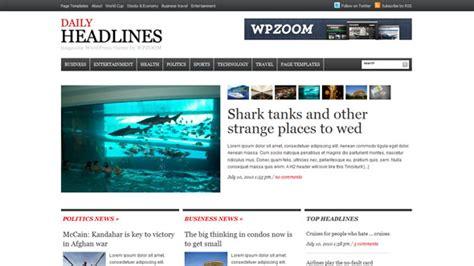 themelock wordpress daily headlines wpzoom premium wordpress theme