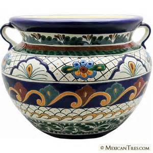 mexican tile mexican talavera vallarta large planter