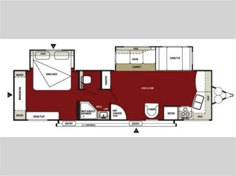 Another one of our favorite travel trailer floor plans, double slide outs, king bed.   RVs