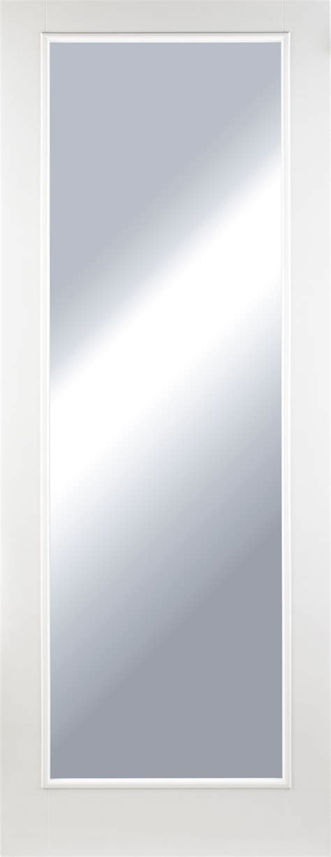 White Glass Panel Interior Doors 1 Pane Glazed Smooth White Primed Door