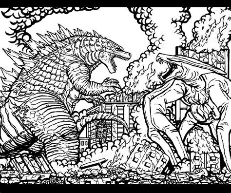 coloring book vs tlop godzilla 2014 coloring page az coloring pages