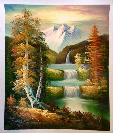 bob ross paintings with acrylics 1000 ideas about waterfall paintings on bob
