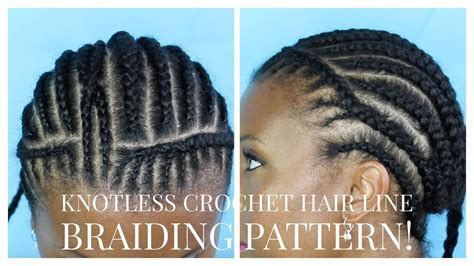 youtube braid pattern for crochet braids natural crochet braid hairline braiding pattern youtube