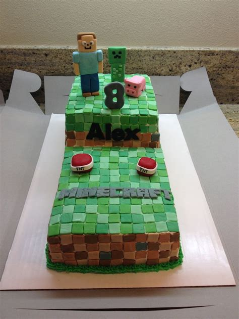 How To Decorate A Minecraft Cake by Minecraft Cake Cake Decorating