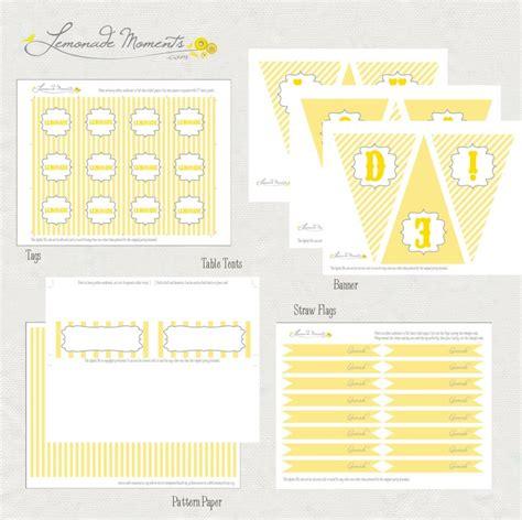 printable lemonade banner free lemonade stand printables birthday party ideas