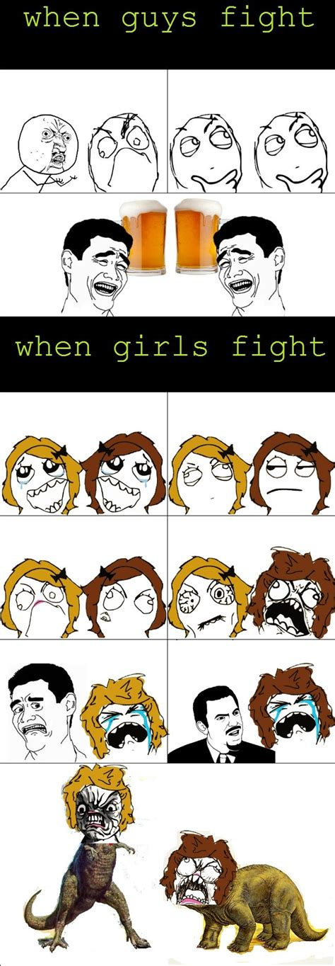 Rage Vs Fight When Guys Fight When Fight Heck No Baww Thoughtful Y U No Dude