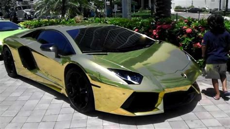 GOLD! Lamborghini Aventador all wrapped in gold!! (Project