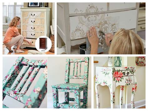 Modern Decoupage - 39 furniture decoupage ideas give things a second