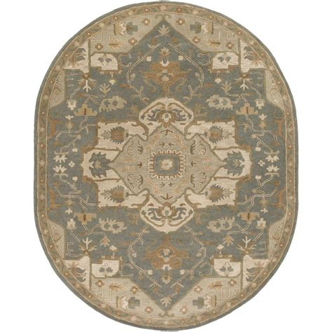 Area Rugs Oval Artistic Weavers Demetrios Slate 8 Ft X 10 Ft Oval Indoor Area Rug S00151007515 The Home Depot