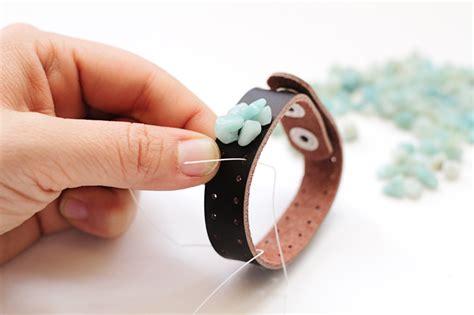 Leather Bracelets for Women: Stone Bead Jewelry Tutorial