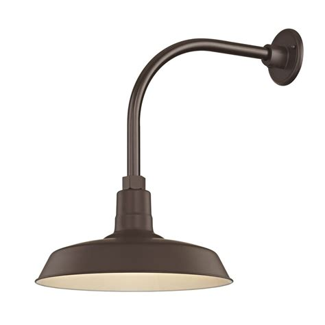Outdoor Gooseneck Barn Lights Bronze Outdoor Barn Wall Light With Gooseneck Arm And 14 Quot Shade Bl Arml Bz Bl Sh14 Bz