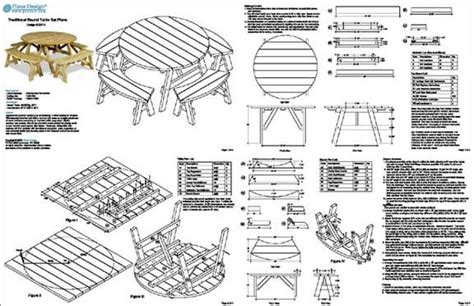 picnic table plans   solo seats  picnic table