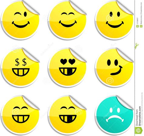 printable smiley stickers smiley stickers royalty free stock photography image