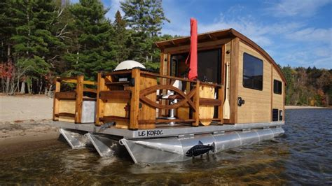 boats you can live on you can live on the sea in this solar powered boat home