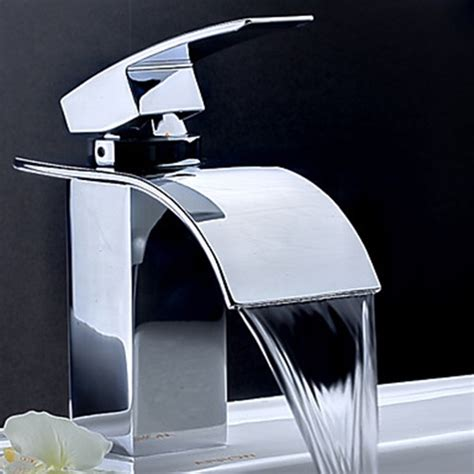 contemporary waterfall bathroom sink faucet contemporary waterfall bathroom faucet chrome finish