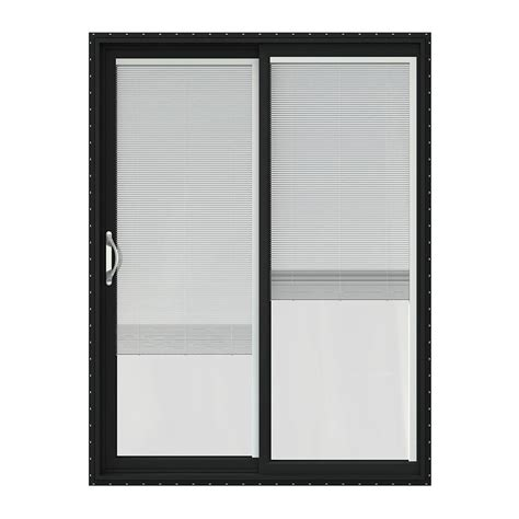 60 Sliding Glass Patio Door Jeld Wen 72 In X 80 In V 2500 Series Vinyl Sliding Low E Glass Patio Door Thdjw181500161 The