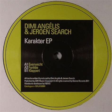 Ep Search Dimi Angelis Jeroen Search Karakter Ep Vinyl At Juno Records