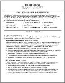 Finance Executive Sle Resume by Best Photos Of Financial Objectives Exle Finance Manager Resume Exles Marketing Plan