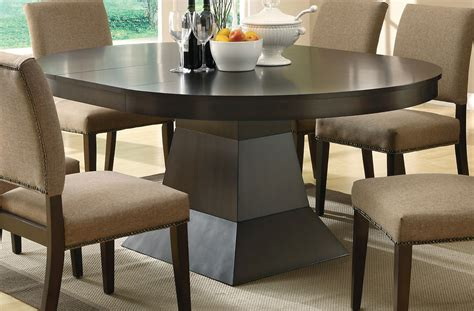 coaster dining table coaster myrtle pedestal dining table 103571 at homelement com