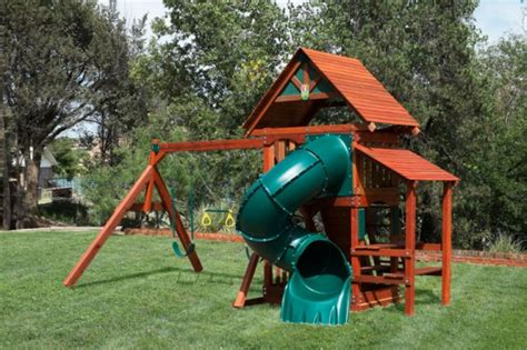 Wooden Swing Set With Slide Houston Dallas