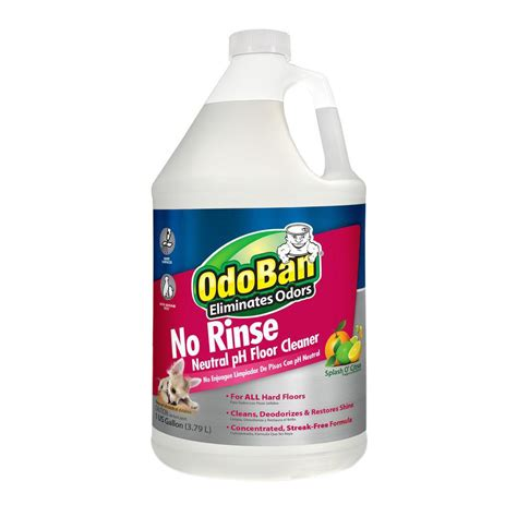 odoban 128 oz no rinse neutral ph floor cleaner 4 pack