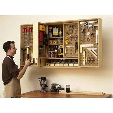 wall mounted multi layer tool cabinet diy  images