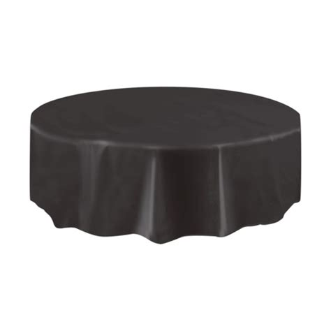 Black Table Covers by Black Table Cloth Plastic Tablecover 1pc