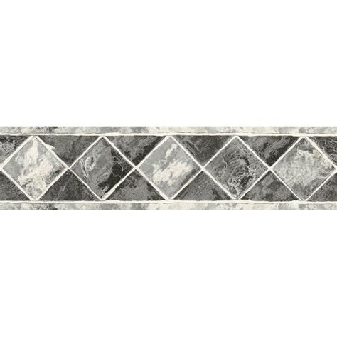 grey wallpaper border the wallpaper company 6 75 in h black and silver