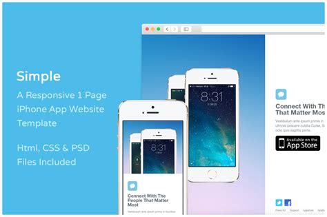iphone app website template free simple iphone app website template website templates on