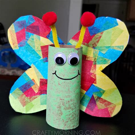 Butterfly Toilet Paper Roll Craft - cardboard butterfly craft crafty morning